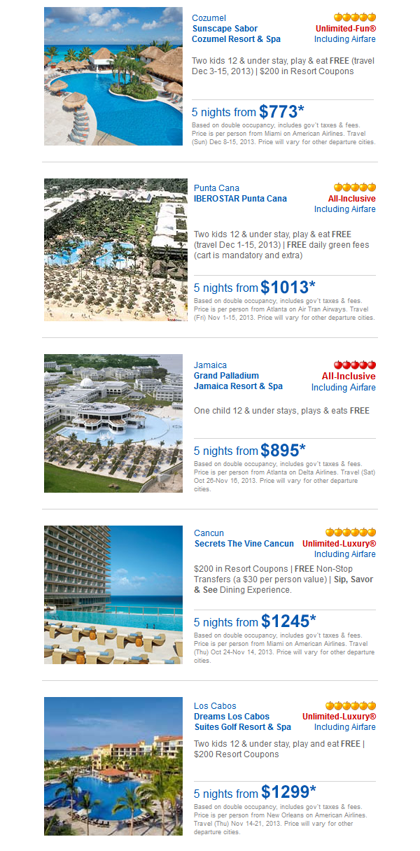 All Inclusive Cancun Vacation Packages With Airfare