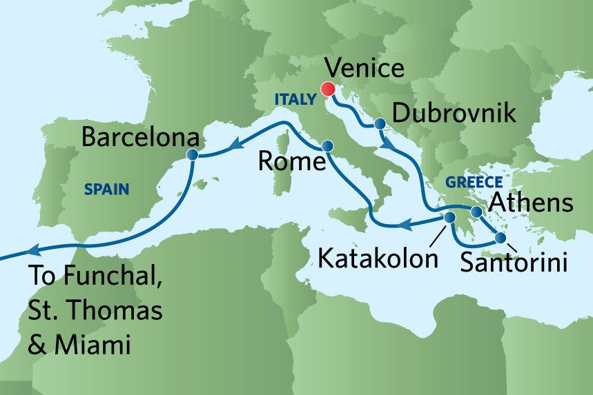 22Nt Map Transatlantic Cruise