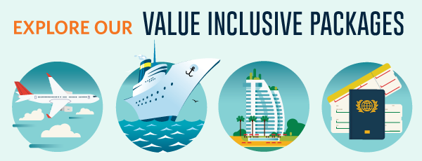 Our Premium Value Inclusive Packages - Cruise packages with airfare