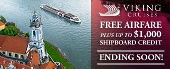Viking River Cruises with FREE Airfare & $1,000 Shipboard Credit