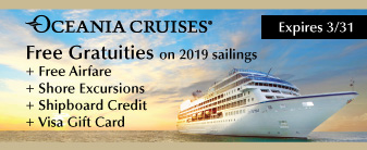 Free Gratuities on Oceania Cruises