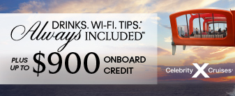 Celebrity Cruises with Bonus Extras!