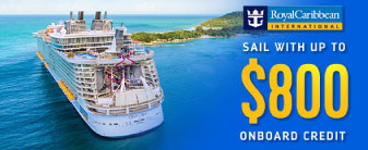 Royal Caribbean Cruises with up to $800 to Spend