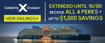 Celebrity Cruises with up to All 4 Perks and Savings!