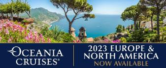 Just released! 2023 Oceania Cruises!