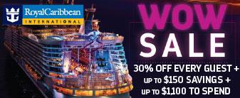 Royal Caribbean WOW SALE with Bonus Onboard Credit!