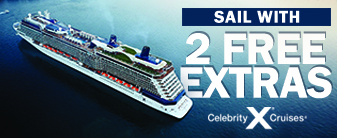Celebrity Cruises with 2 Free Extras