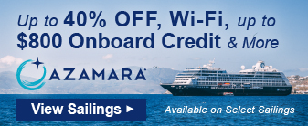 up to 40% Off, Wi-Fi and More on Azamara