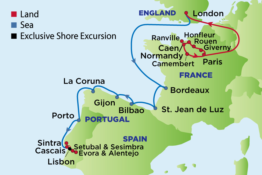 EJ to Normandy, Bordeaux, Portugal