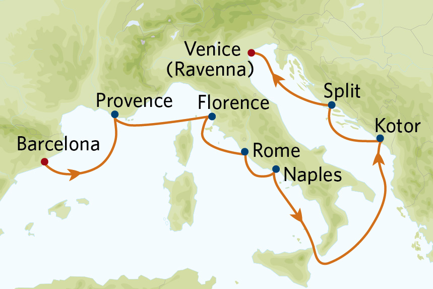 9 night mediterranean cruise barcelona to venice on celebrity constellation