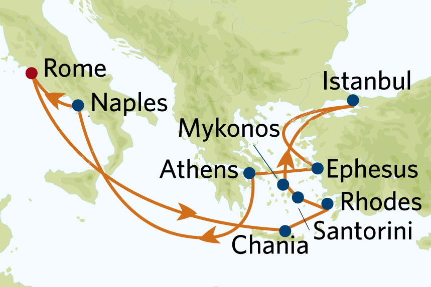 Greek Isles map