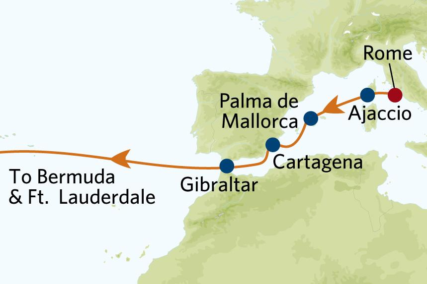 Transatlantic map