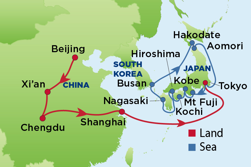 Journey to China and Japan
