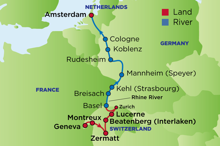 Journey to the Swiss Alps & the Rhine