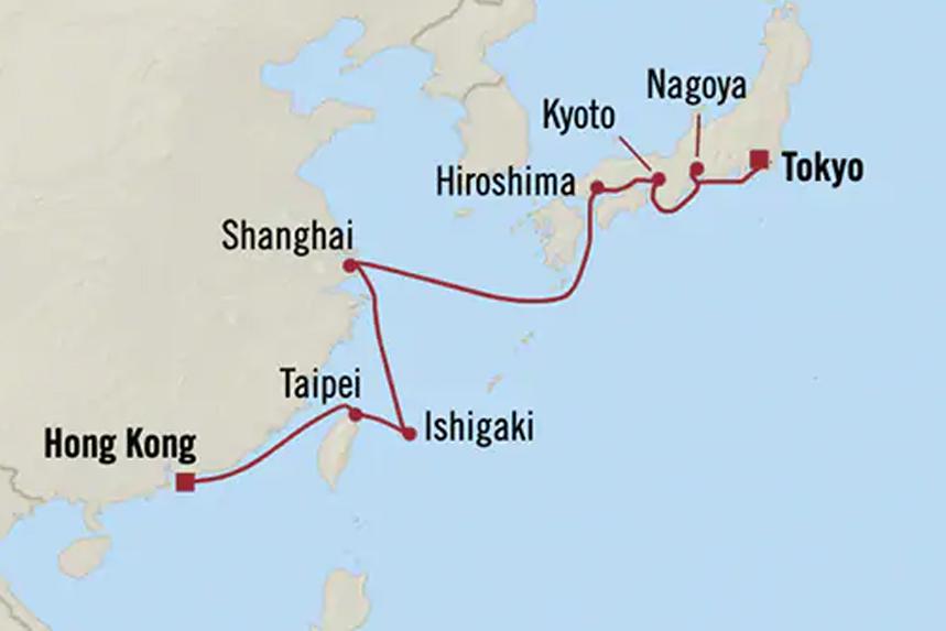 Oceania Asia Luxury Cruises