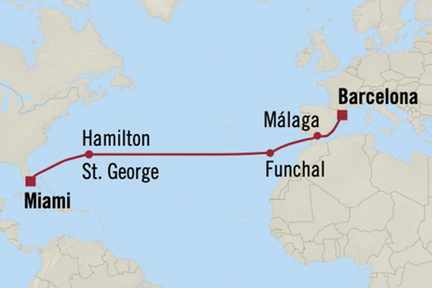 Oceania Luxury Transatlantic Cruises