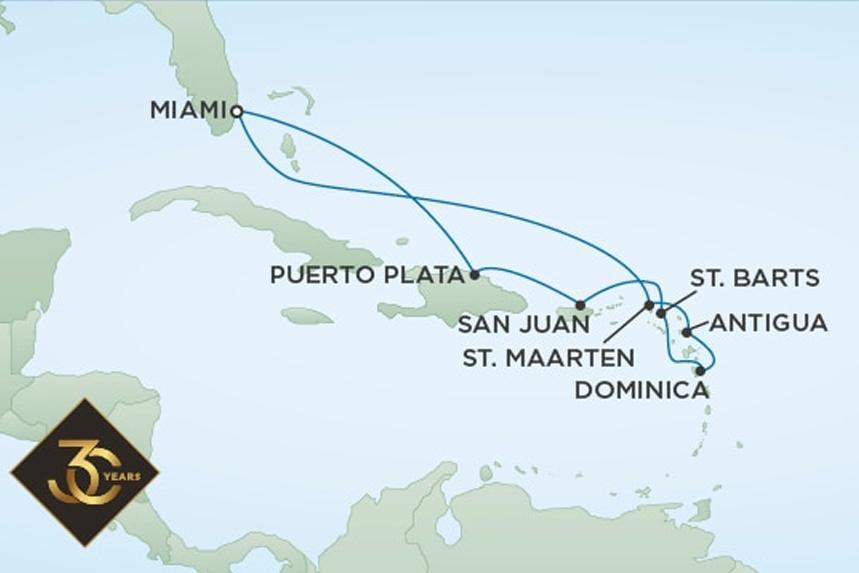 RSSC Luxury Caribbean Cruise
