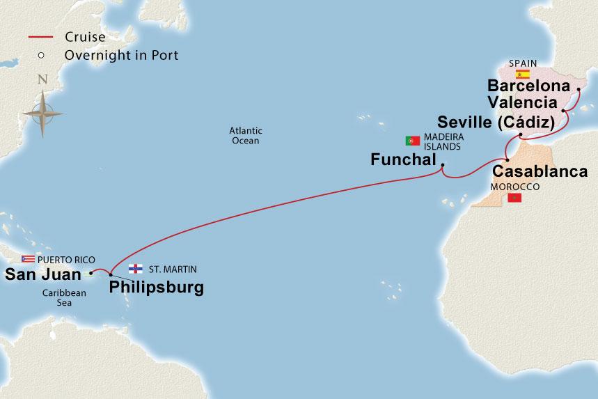 West Indies to Iberia